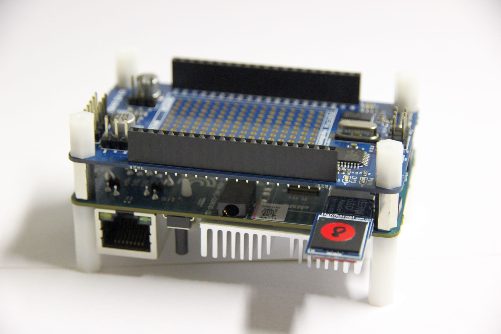 Odroid U3 with IO shield
