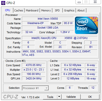 Intel X5650 Overclocking – resulting a 4 37 GHz hexacore